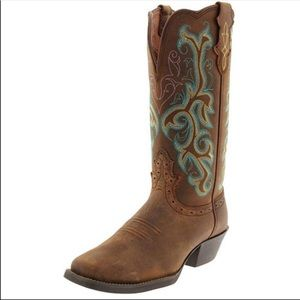 Justin Stampede Sorell Apache Western boots